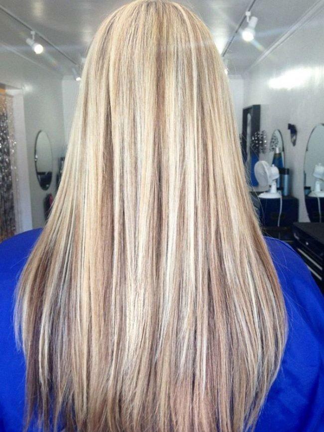melirovanie-na-svetlye-volosy_-36-650x866 Мелирование на рыжие волосы: фото до и после, окрашивание на медный цвет, с челкой и без, на короткие, длинные, крашеные