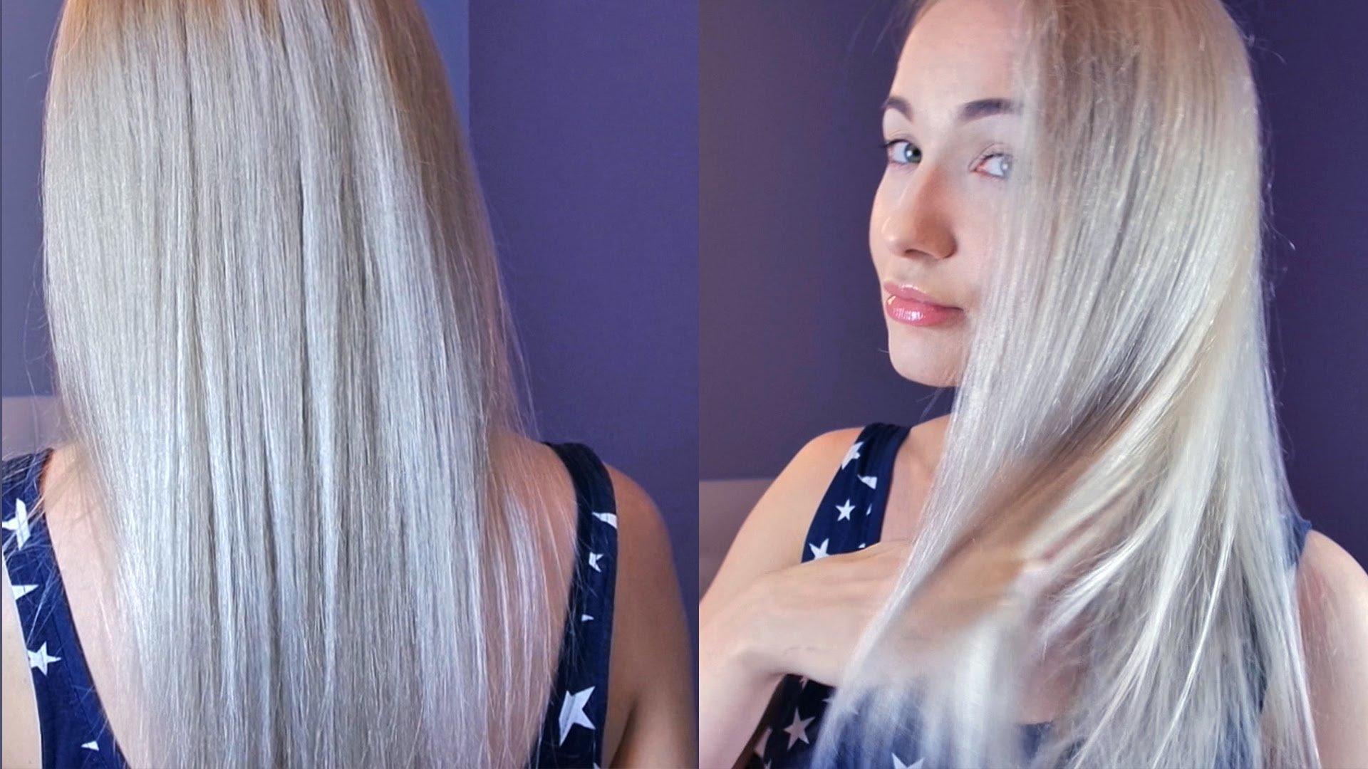 Как сделать холодный блонд волос