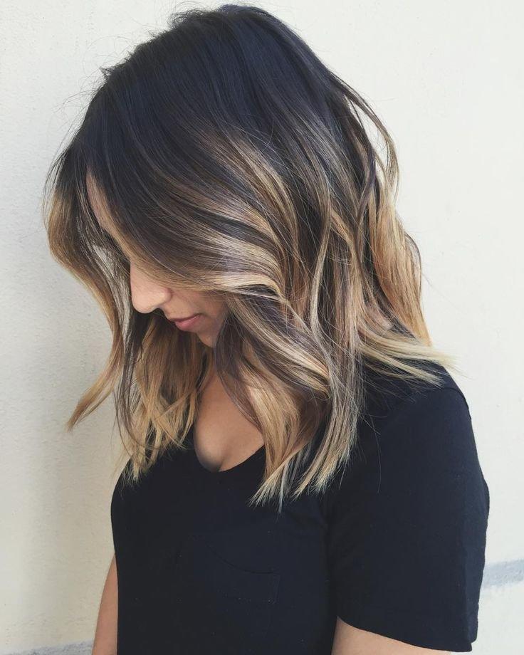 Покраска волос с переходом от темного к светлому на короткие волосы