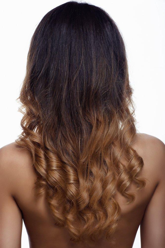 омбре на темные длинные волосы фото