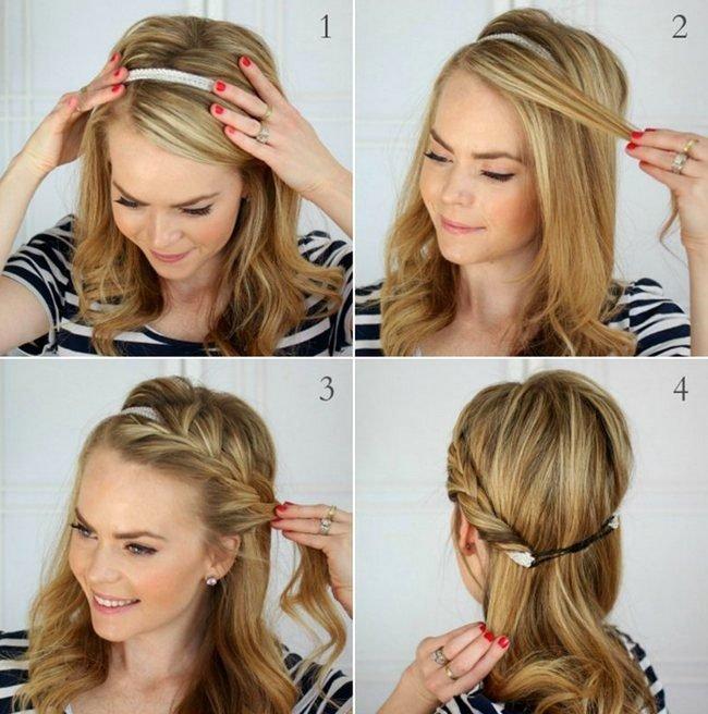 Прически на средние волосы фото своими руками на каждый день пошаговое фото 66