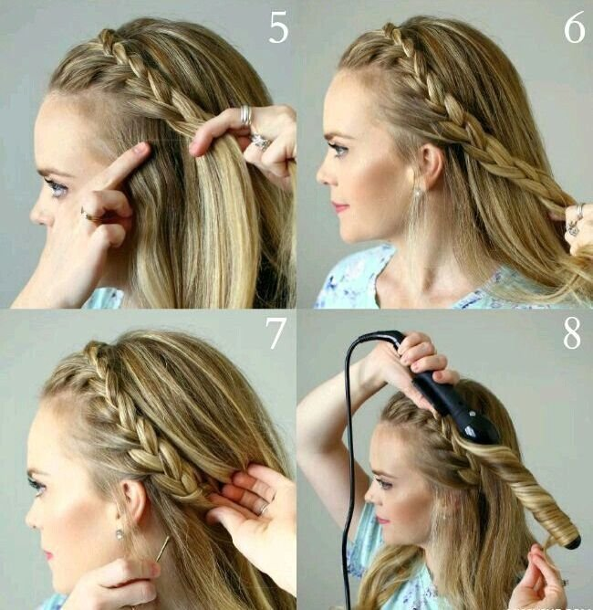 Как заплести косу-ободок с