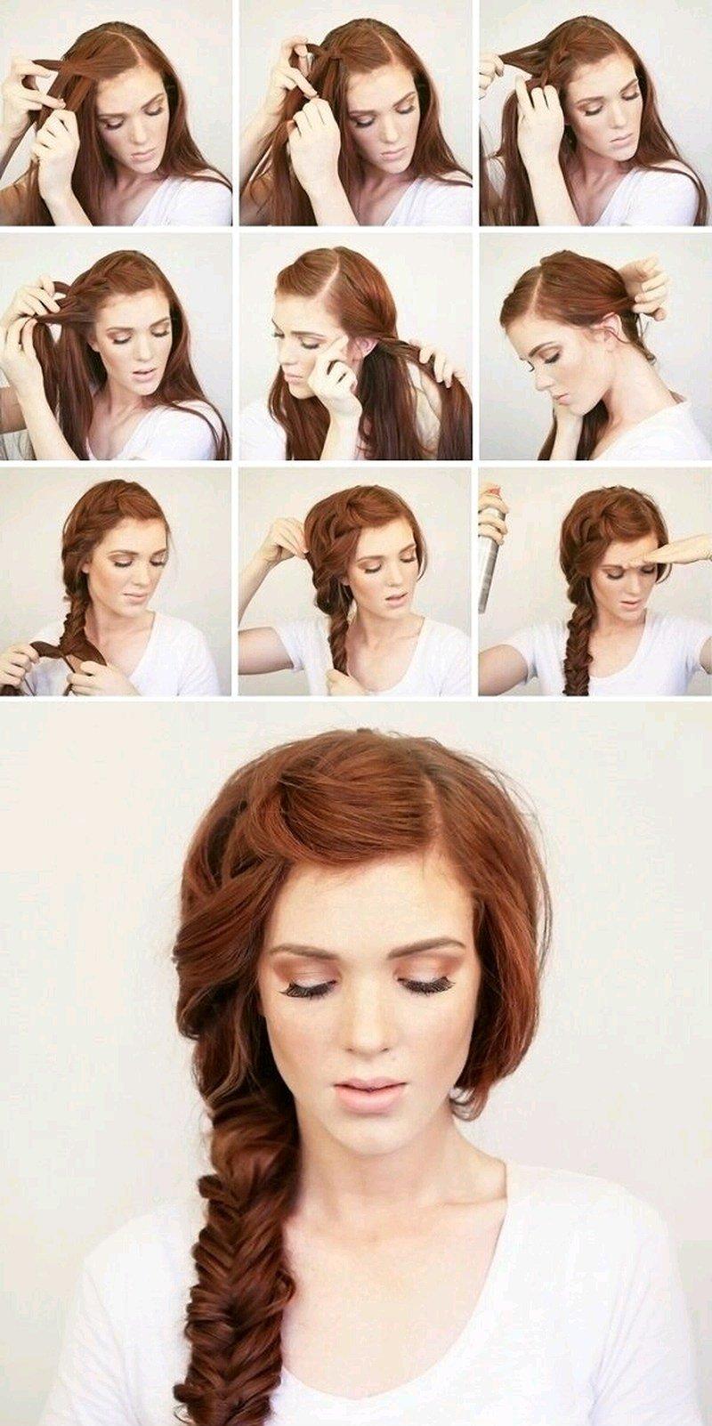 Причёски на средние густые волосы своими руками