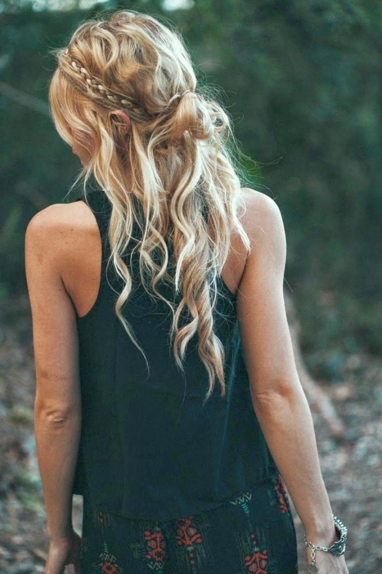 Прическа на длинные волосы своими руками распущенные