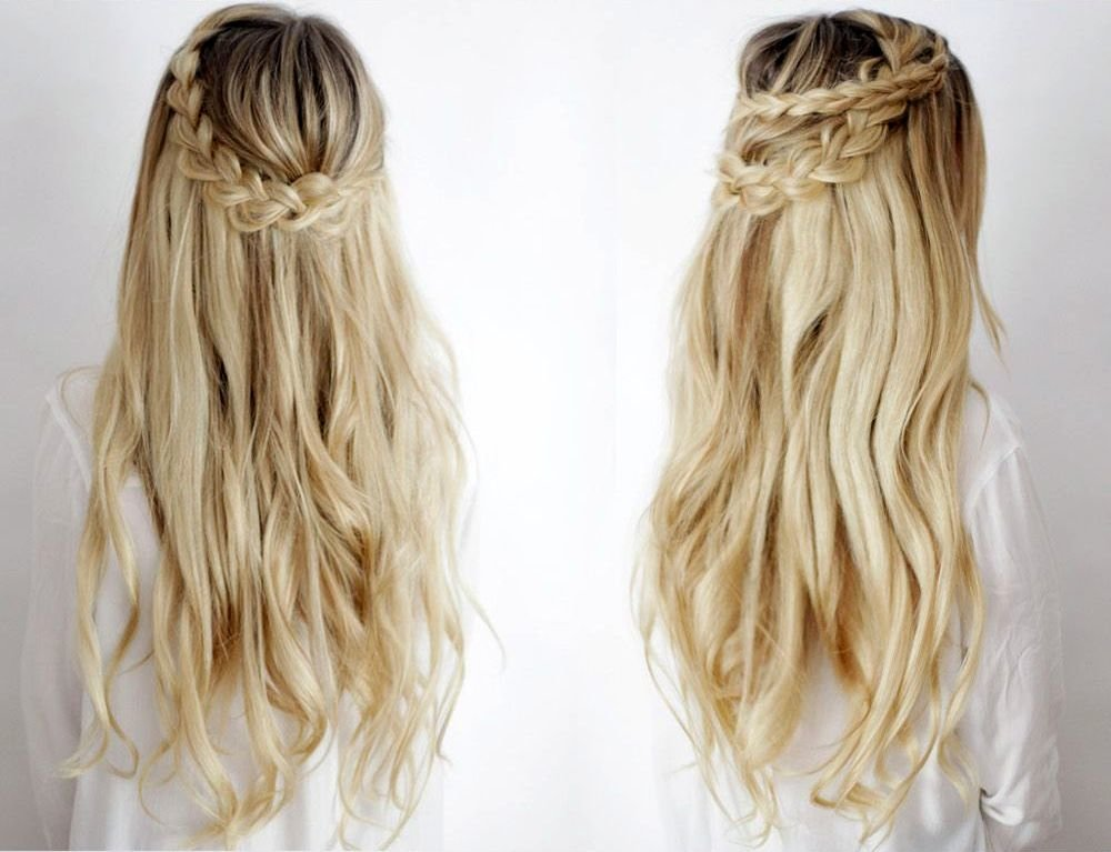 стильные прически для распущенных волос