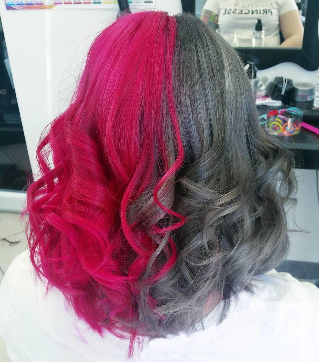 Как покрасить на половину волосы светлой краской