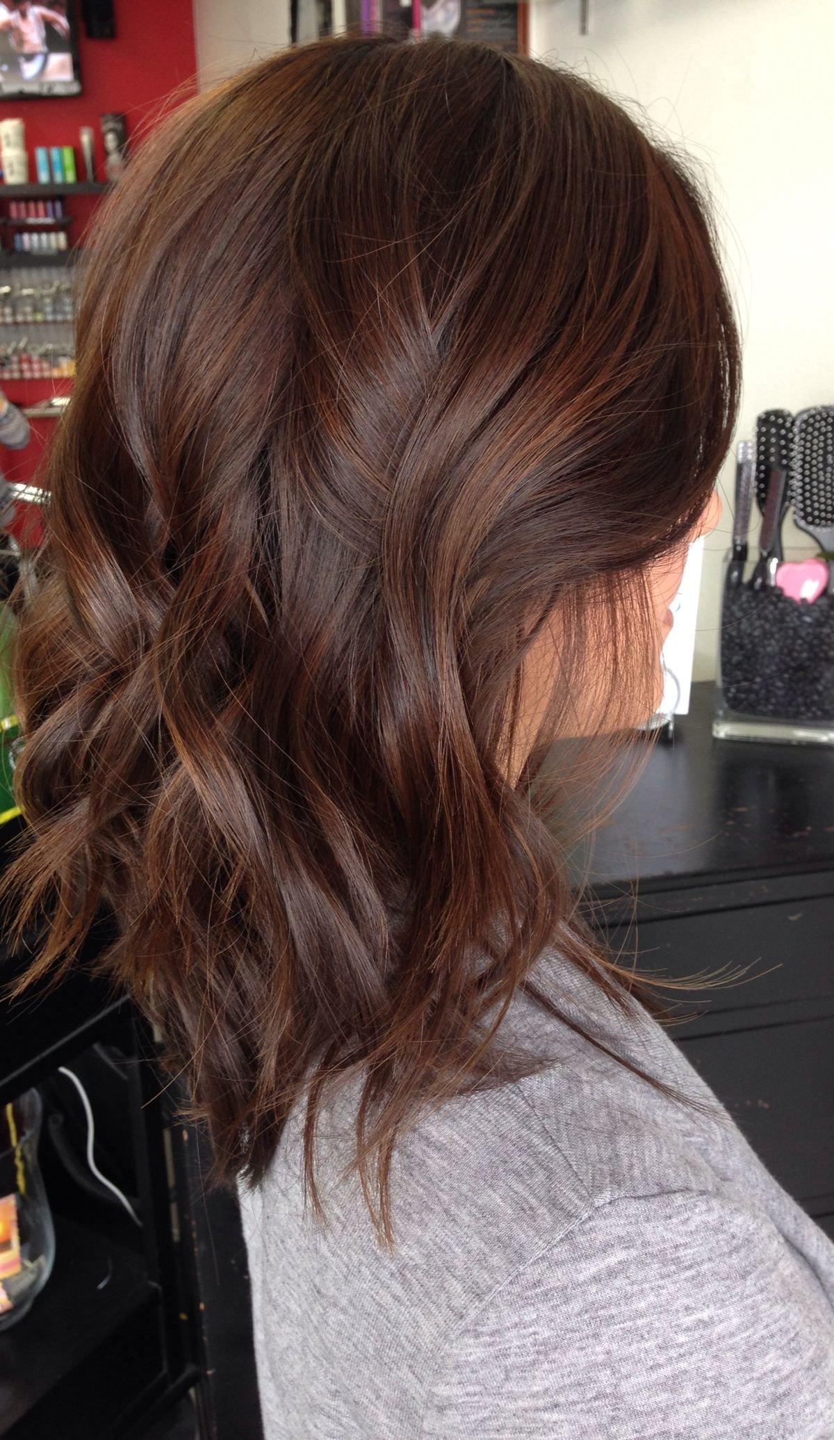 Dark caramel brown hair