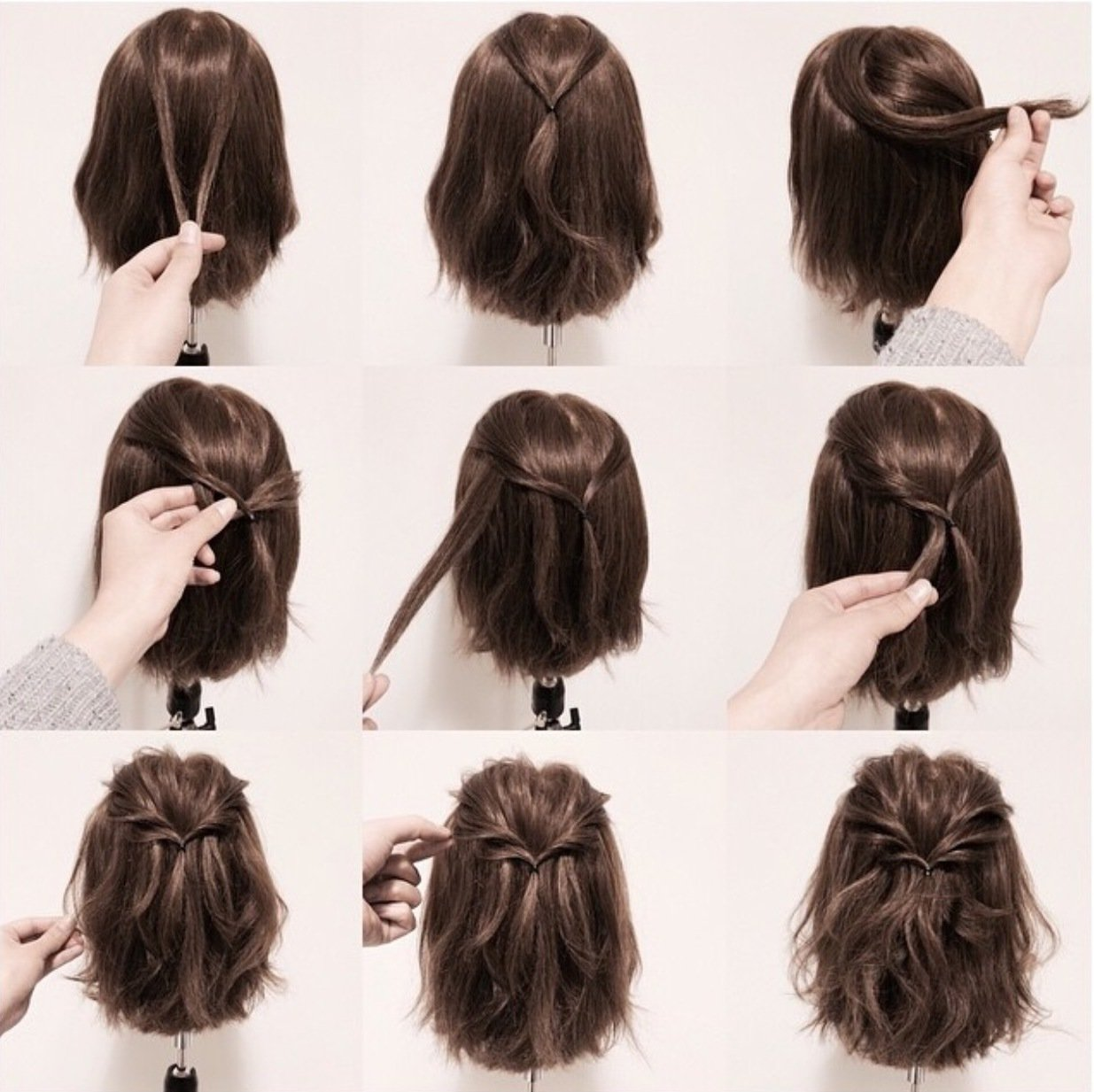 Фото прически на каждый день короткие волосы