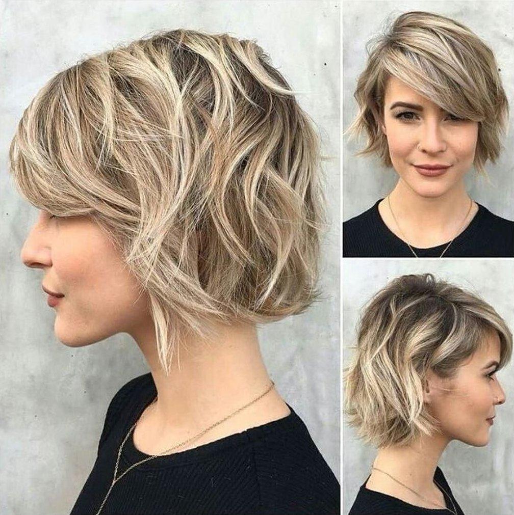 Модные стрижки 2017 на короткие волосы для женщин за 30 каскад