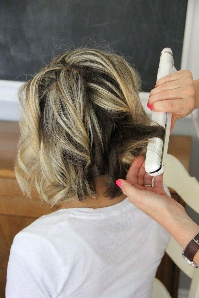 Как хорошо выровнять волосы плойкой