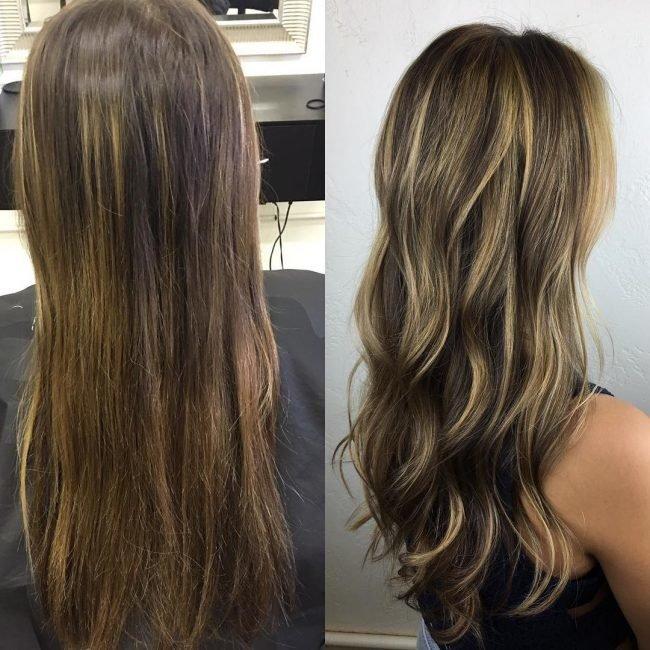 Блики на волосах фото на длинные волосы