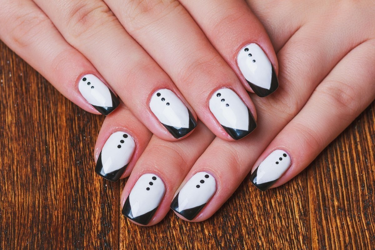 того черно белая картинка дизайна ногтей для блесен служат