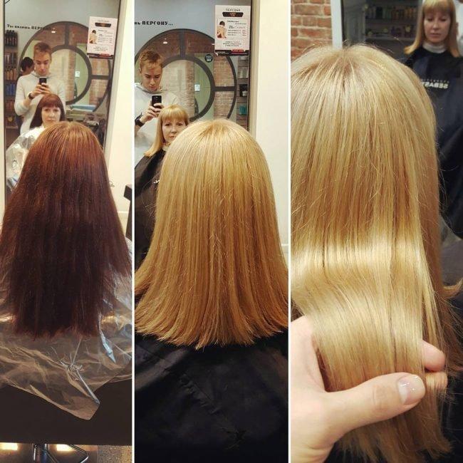 как перейти в блонд
