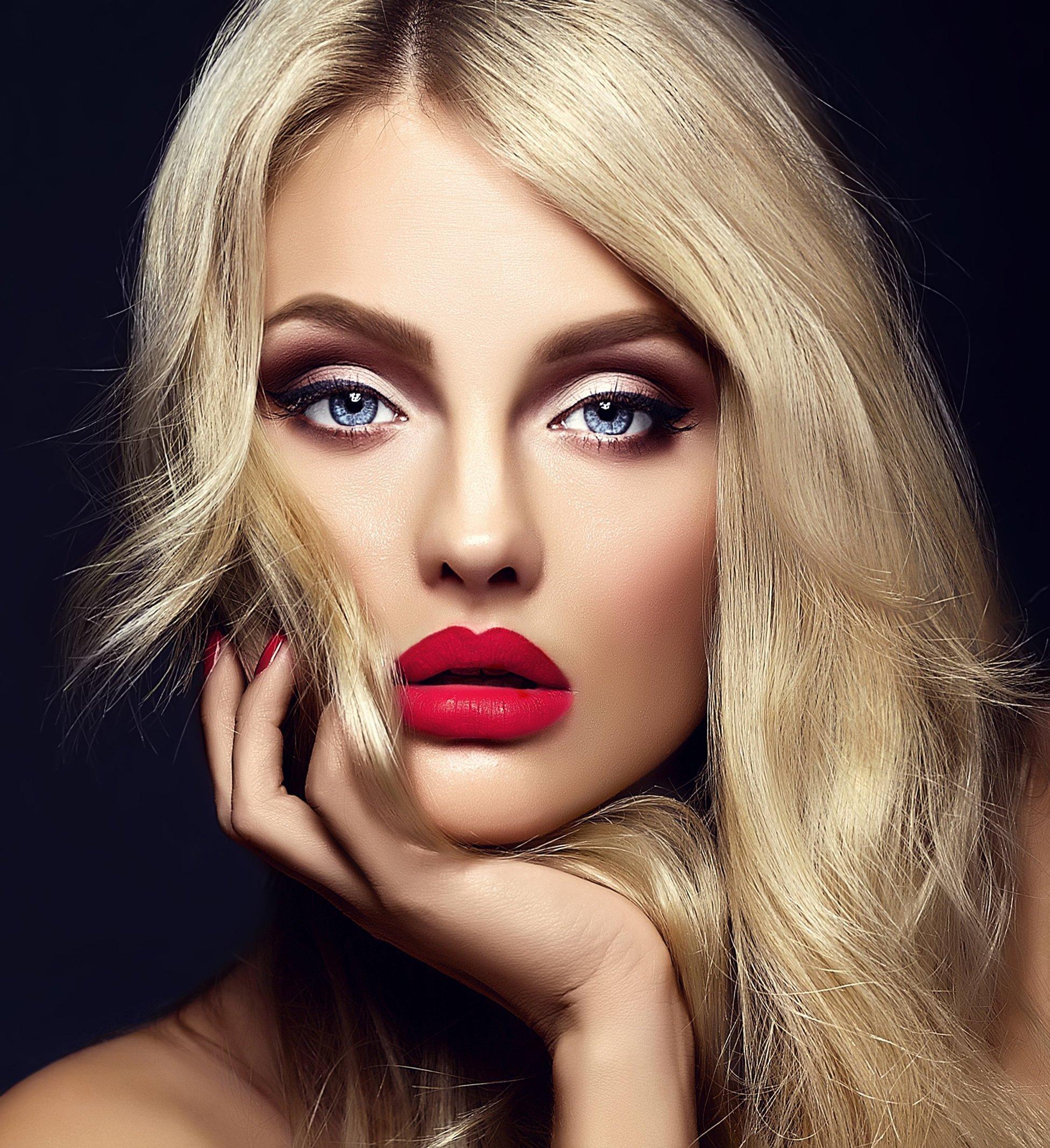 макияж с голубыми глазами