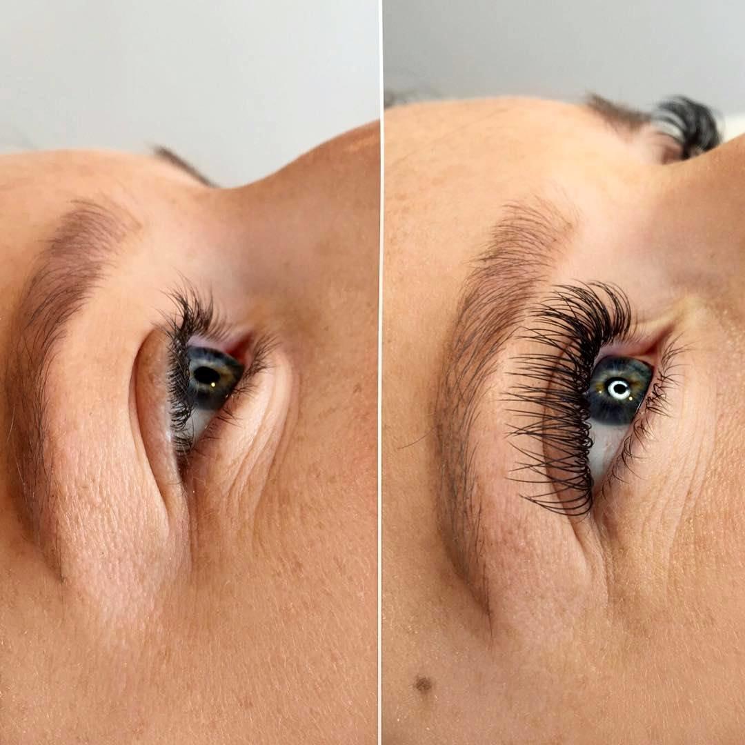Фото девушек до и после наращивания ресниц