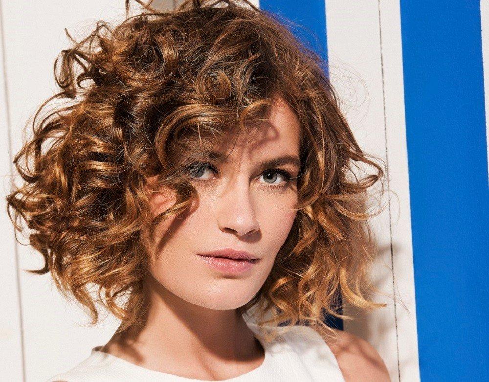 Стрижки с биозавивкой на средние волосы