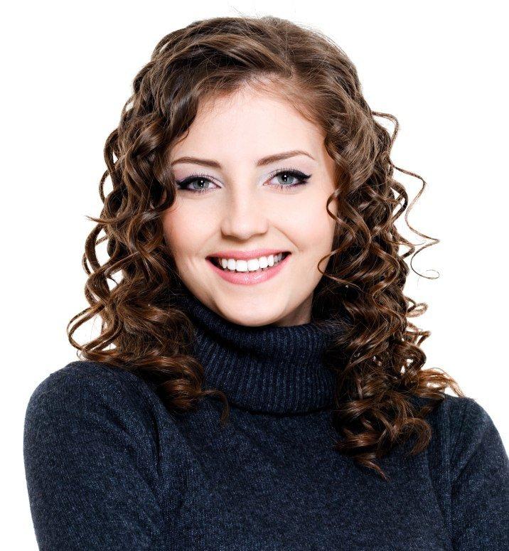 средней волосы на длины химии легкой фото