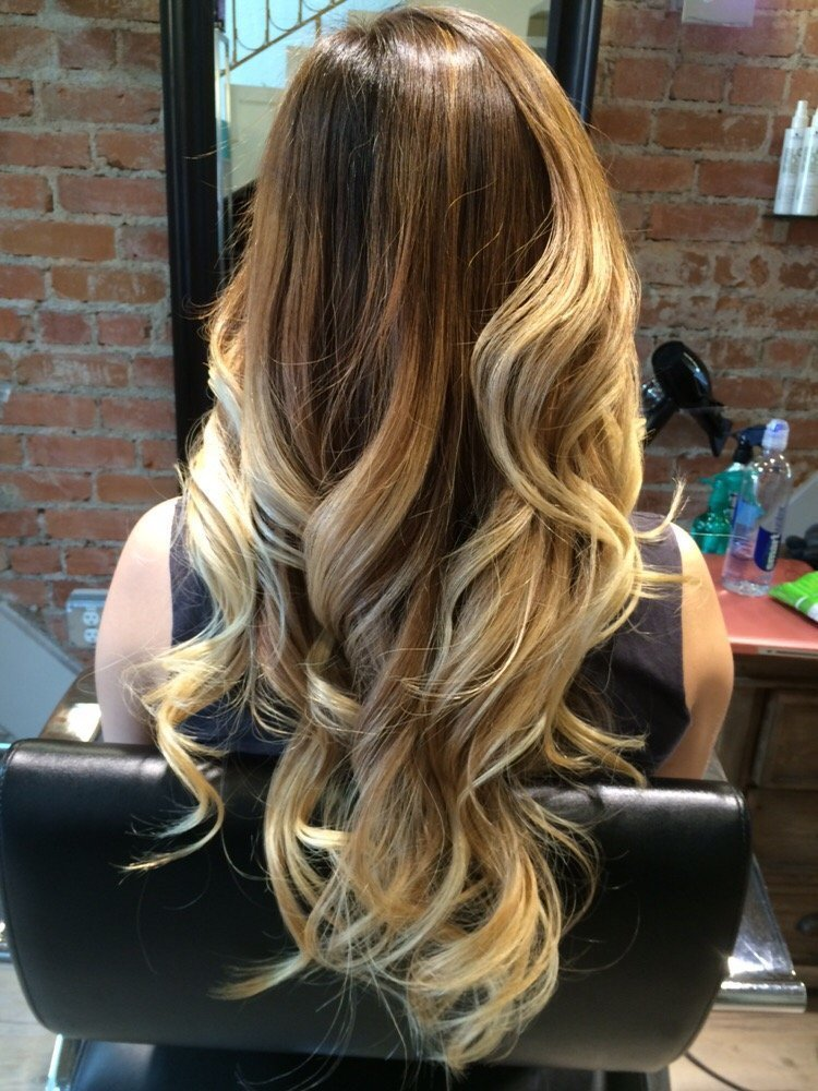 50 - Ombre blond braun ...