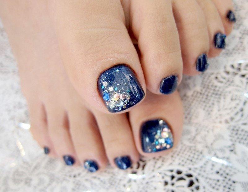 Шлак для ногтей дизайн на ногах