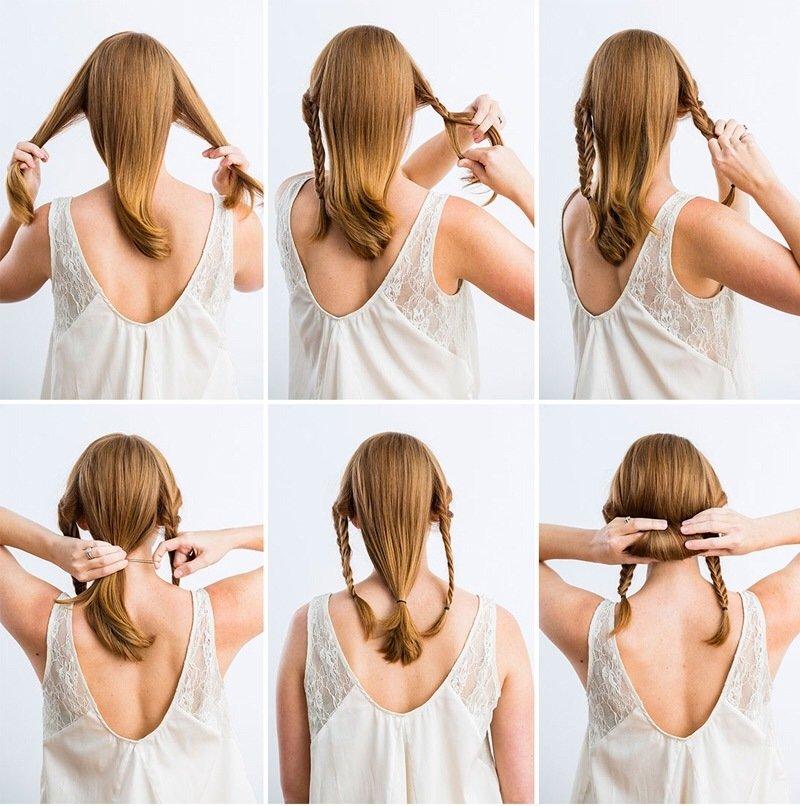 Простые причёски на средние волосы на каждый день для девочек