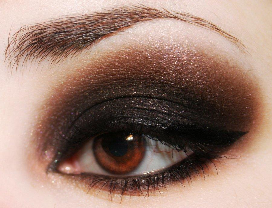 Фото макияж глаз на карие глаза