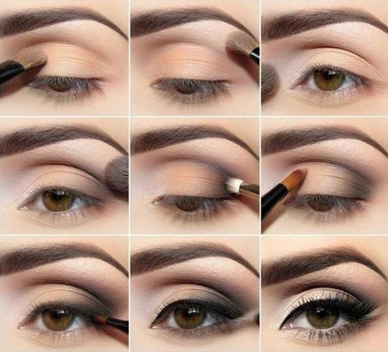 Как правильно нанести макияж на глаза пошаговое