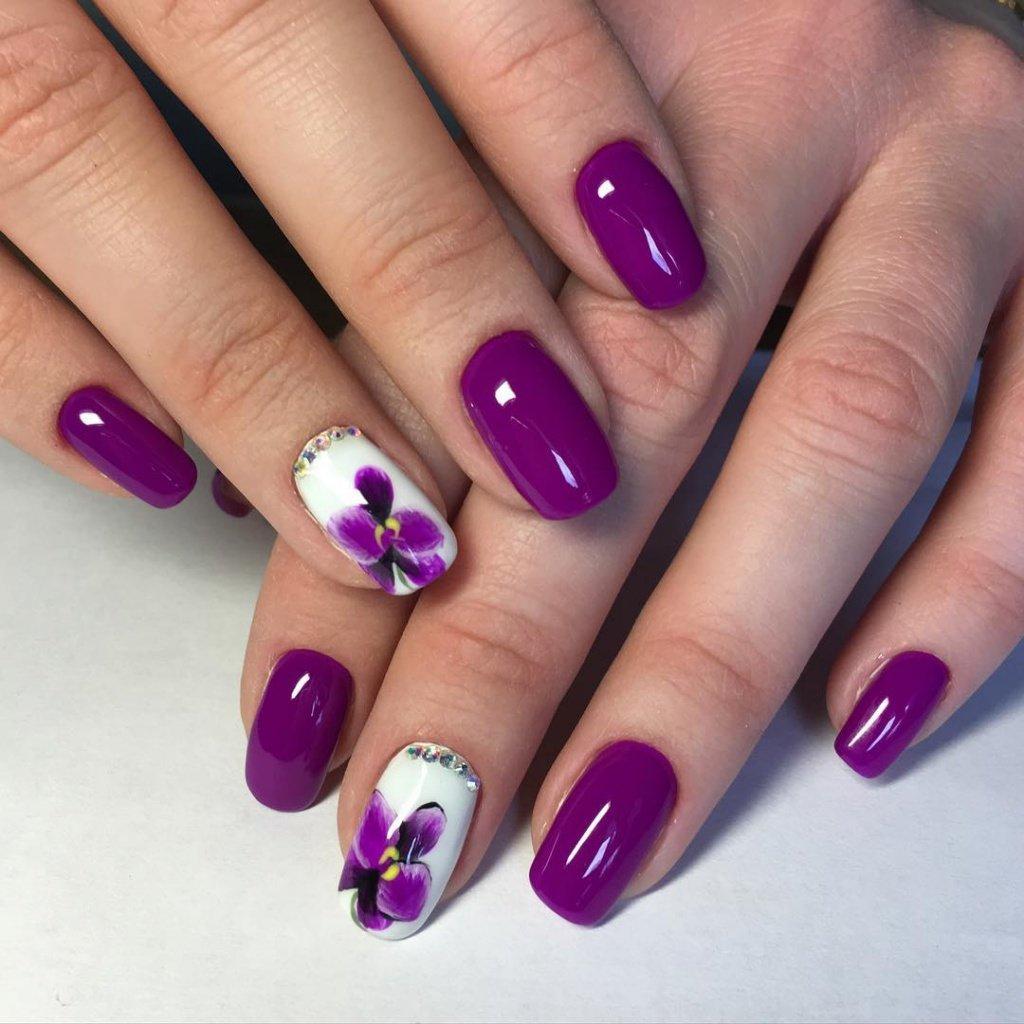 Маникюр на короткие ногти с рисунком картинки 15