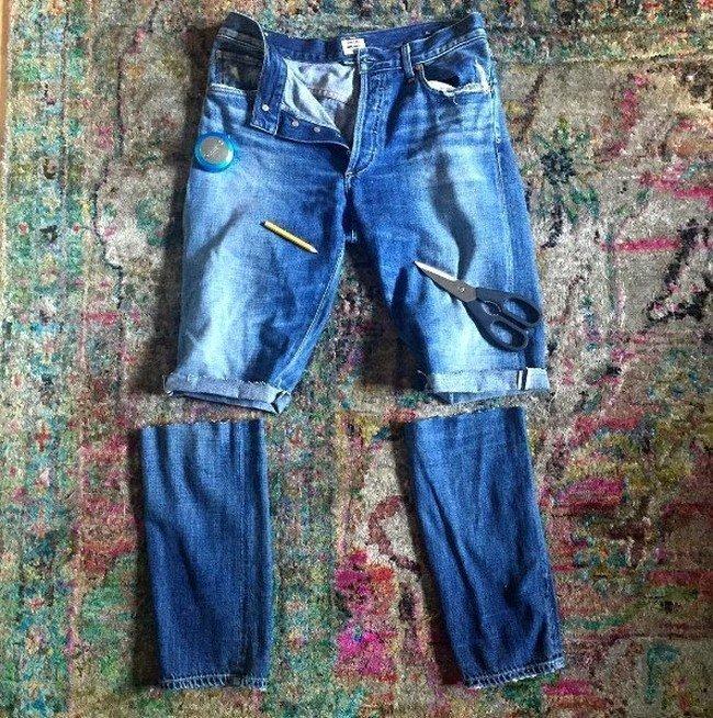 kak-iz-dzhins-sdelat-modnye-shorty-foto_-11-650x654 Шорты из джинсов своими руками