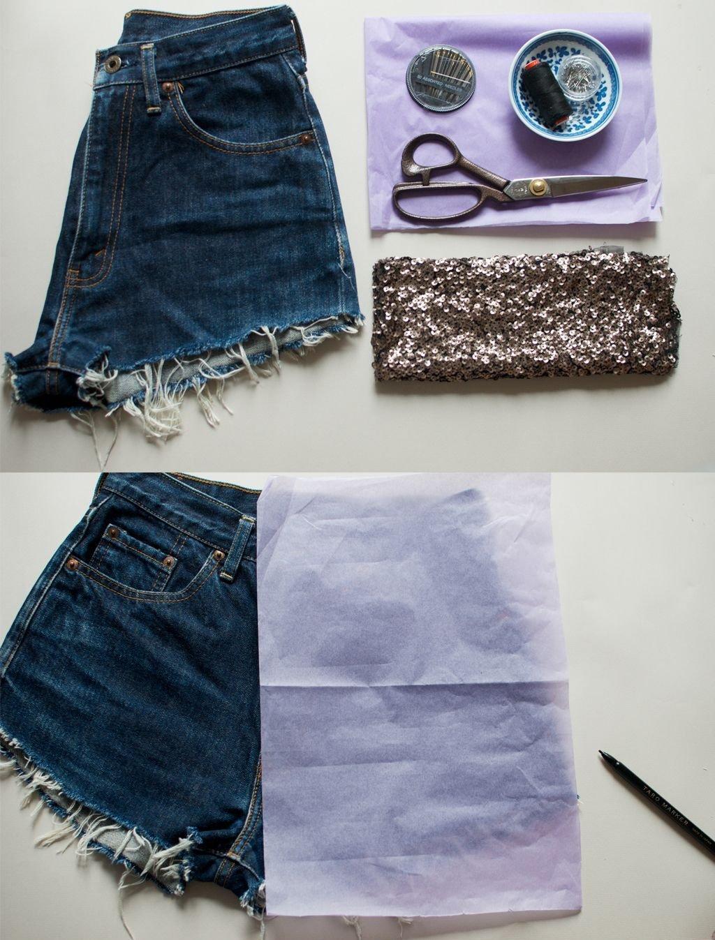 50 Идей, как из джинс сделать модные шорты - Пошаговые фото