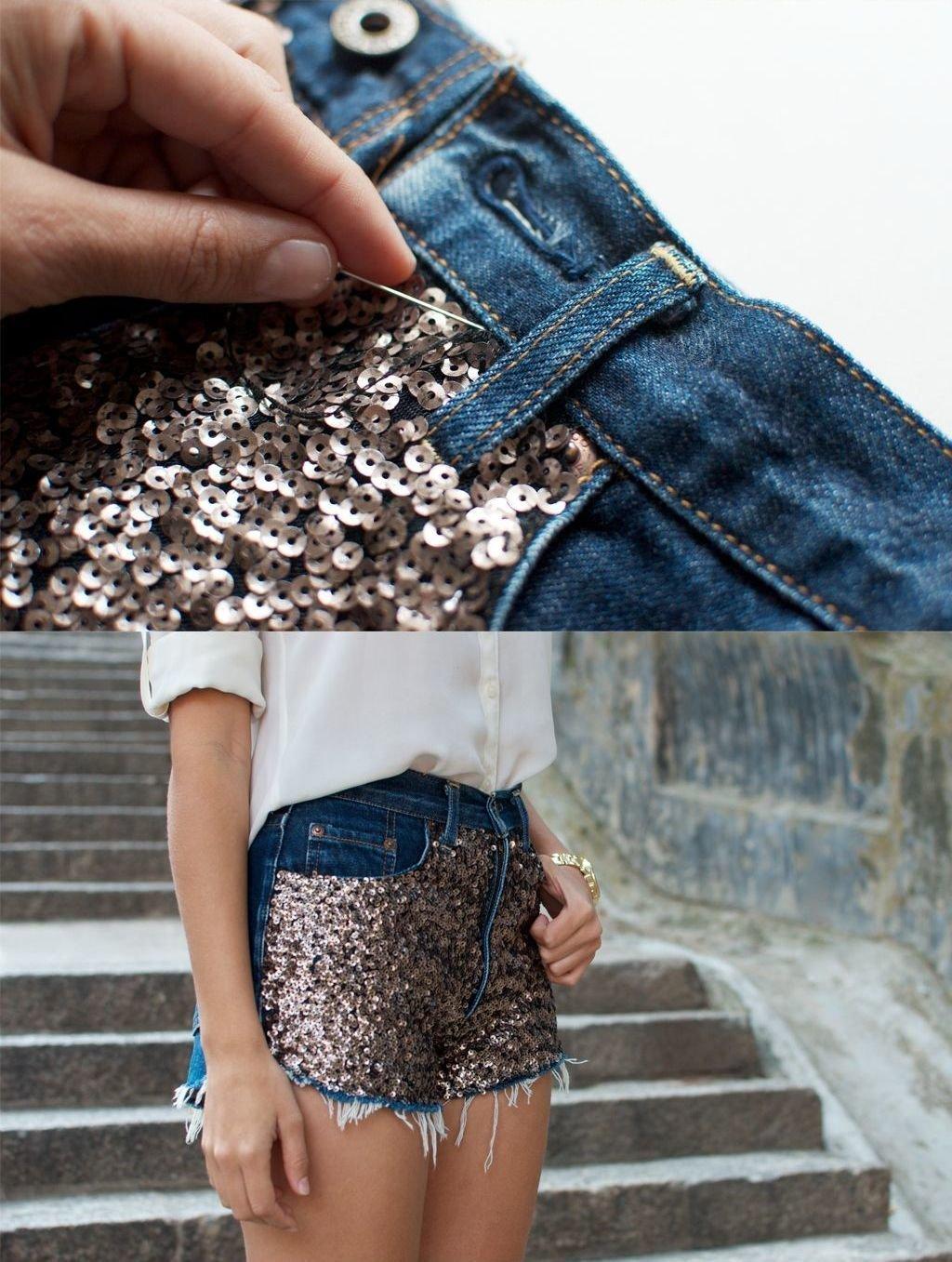 Шорты из старых джинсов пошагово