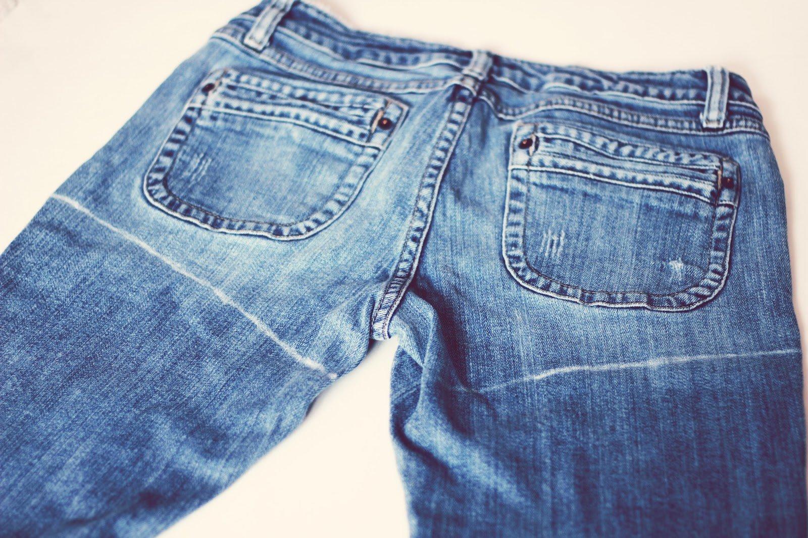 Шорты из старых джинсов фото пошагово
