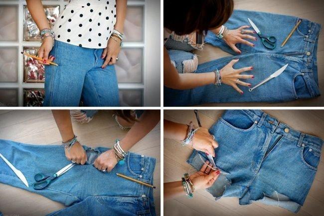 Как сделать модные шорты из джинс своими руками: рваные
