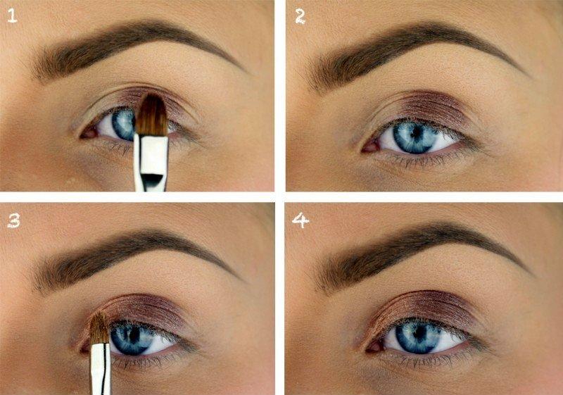 Красивый макияж для брюнеток у которых карие глаза
