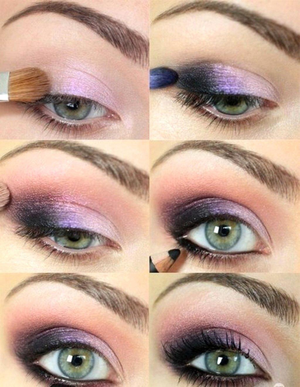 Красивый макияж для глаз фото пошагово