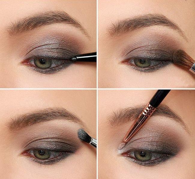 Пошаговое дневного макияжа серых глаз