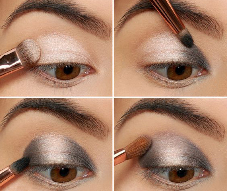 Вечерний макияж пошаговое фото карие глаза