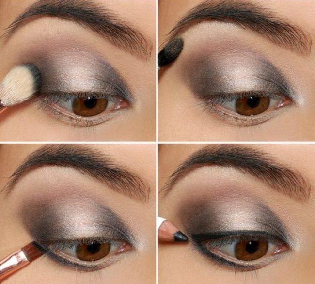 Красивый макияж глаз пошаговое
