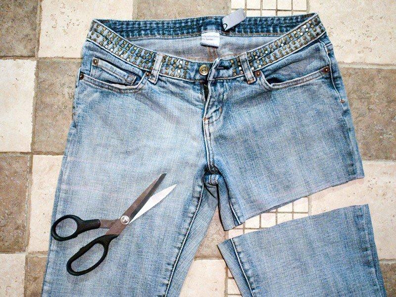 Джинсовые шорты своими руками