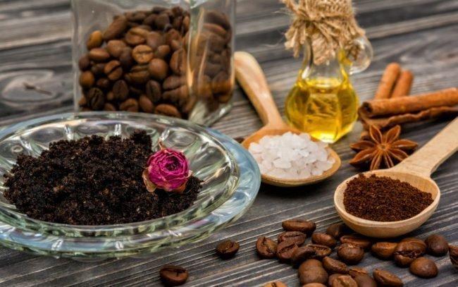 Картинки по запросу Скраб для тела из кофе помогает отшелушивать кожу,