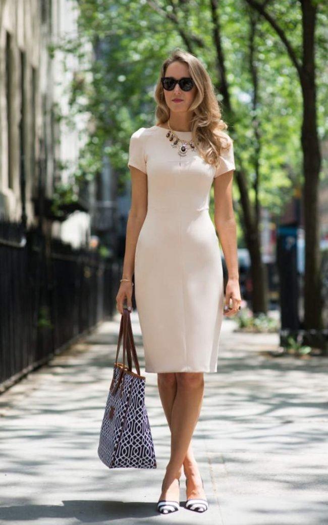 bf0dd3016f9 Элегантное платье-футляр (50 фото) — Стильные новинки 2019