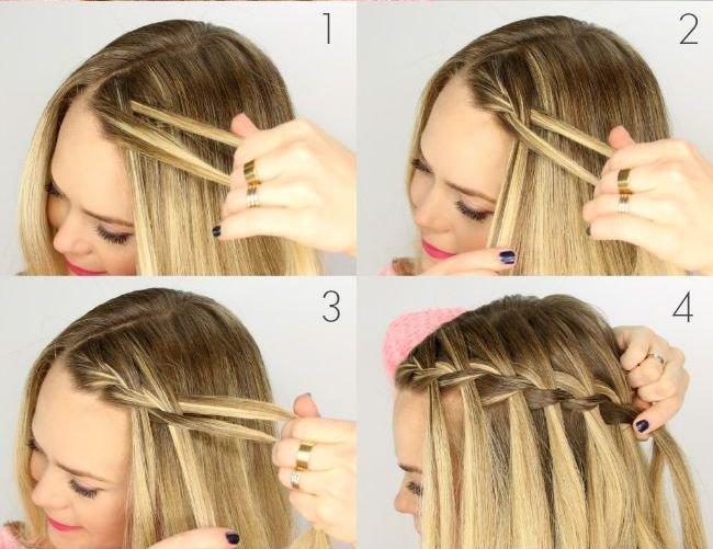 Как сделать прическу водопад на волосах