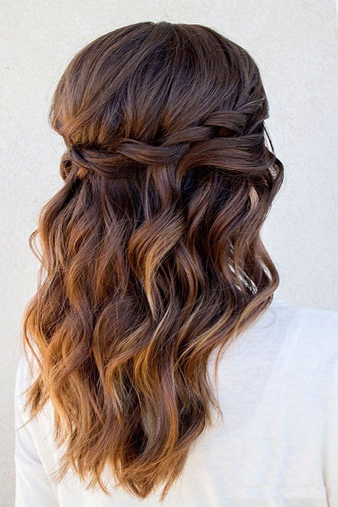 вечерние прически на полураспущенные волосы