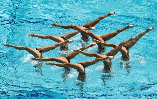 Макияж для синхронного плавания