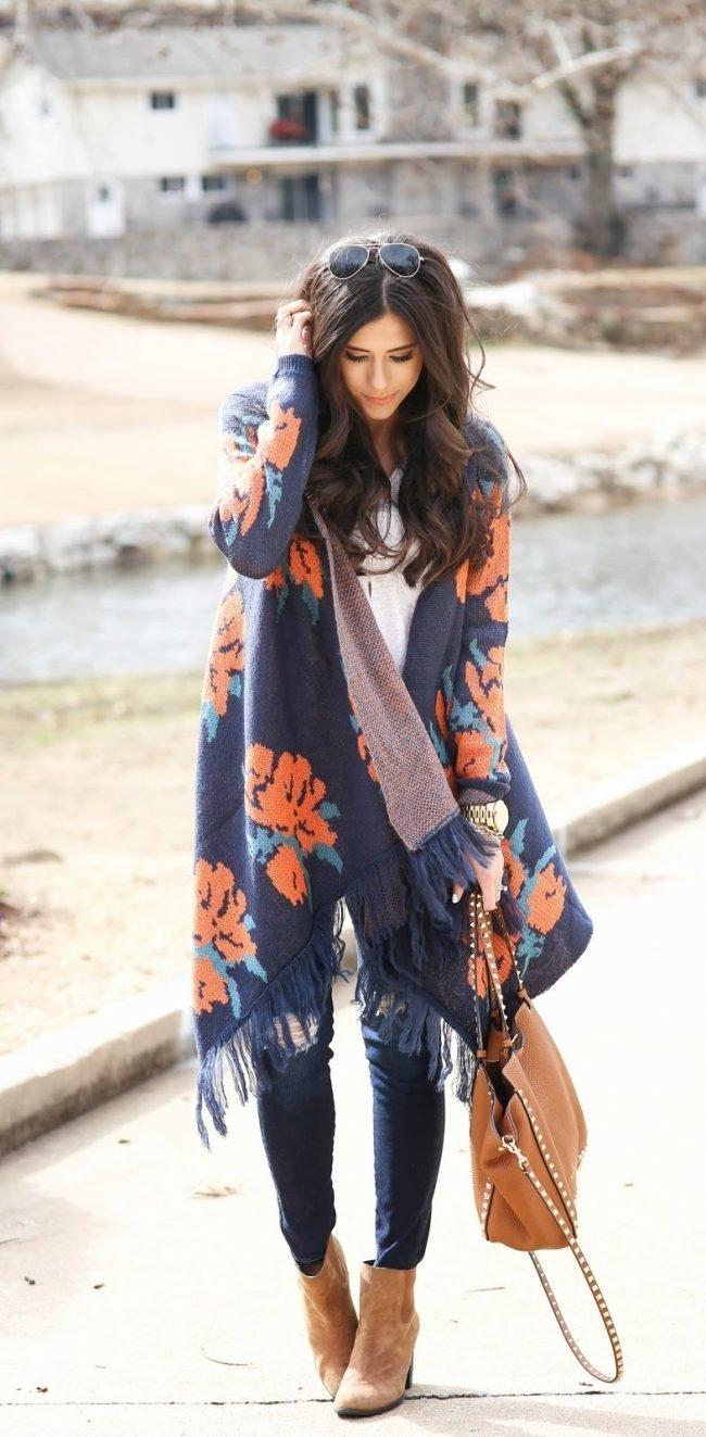 Модные вязаные кардиганы для женщин (50 фото)