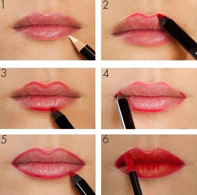 Как сделать подводку для губ