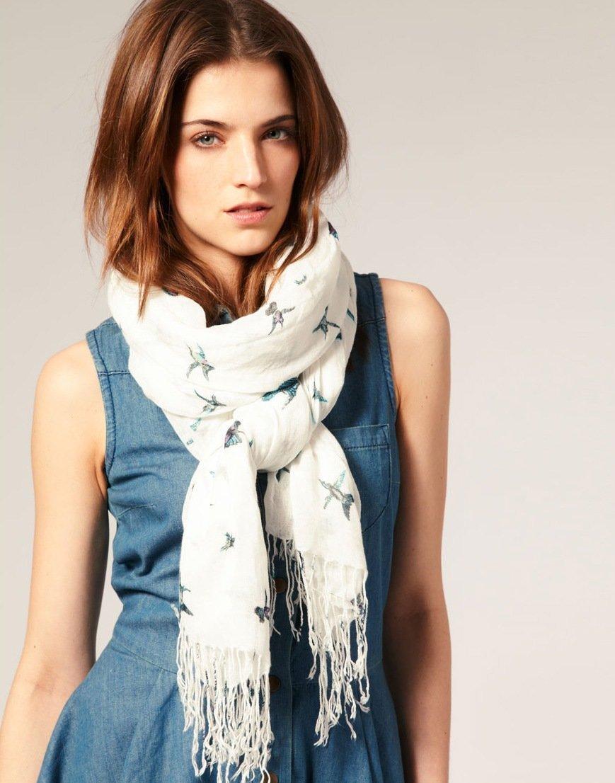 Как завязывать шарф на шею женские фото