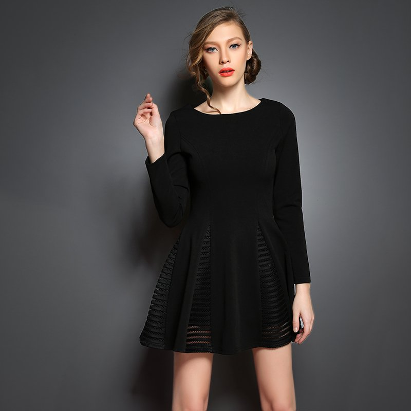 Варианты пошива черного платья