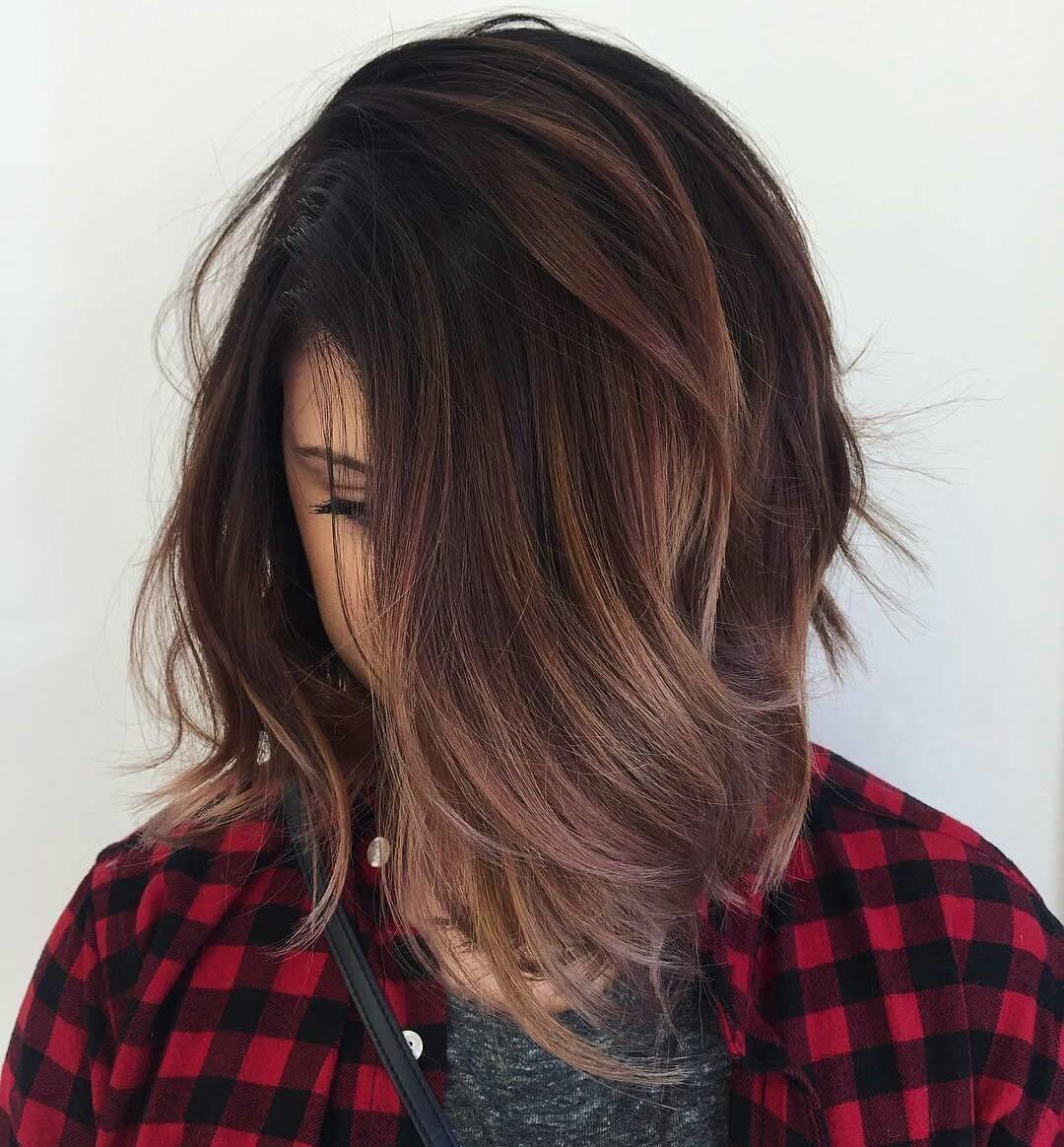 Фото балаяж на темные короткие волосы