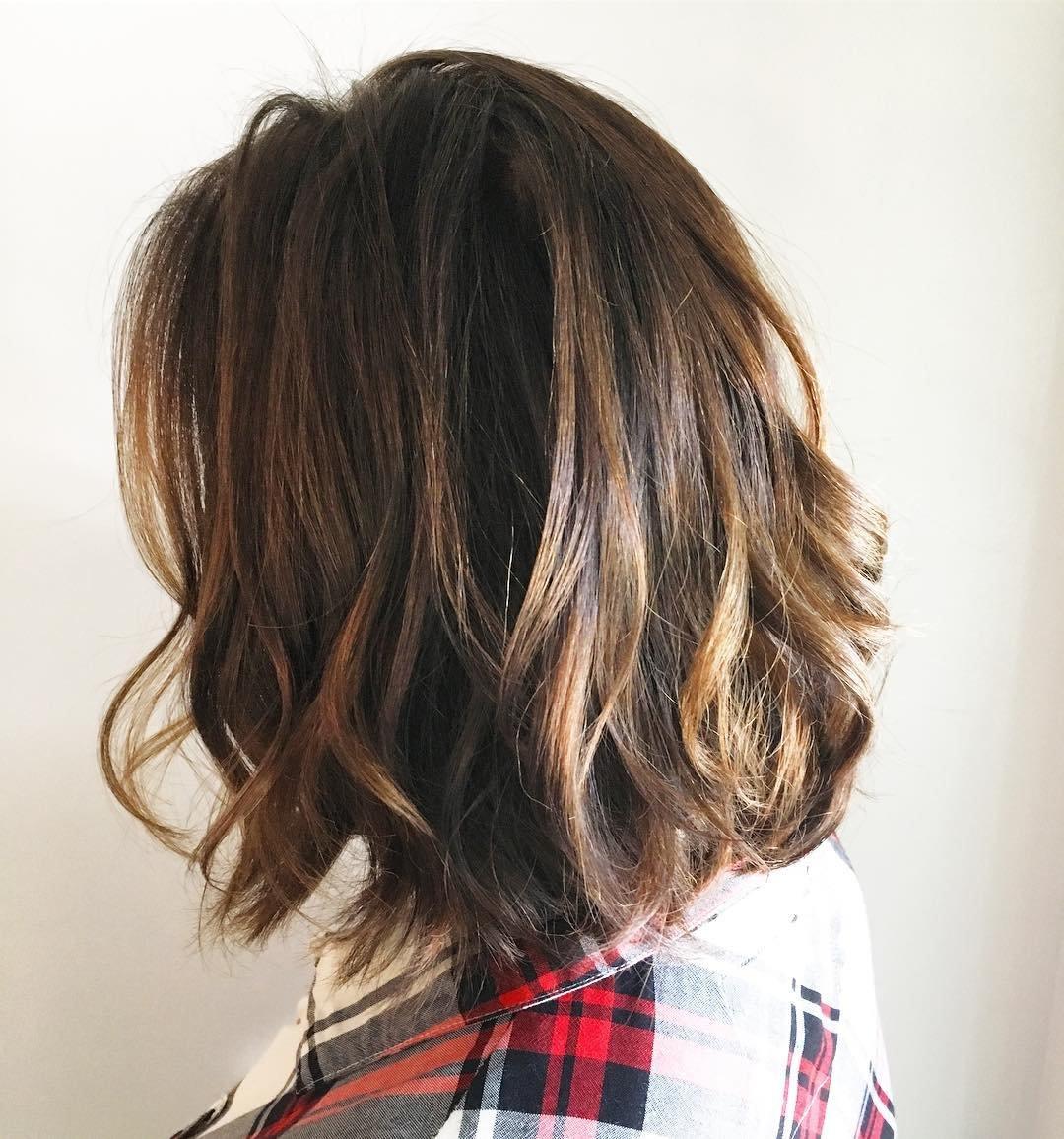 балаяж каре на темные волосы фото