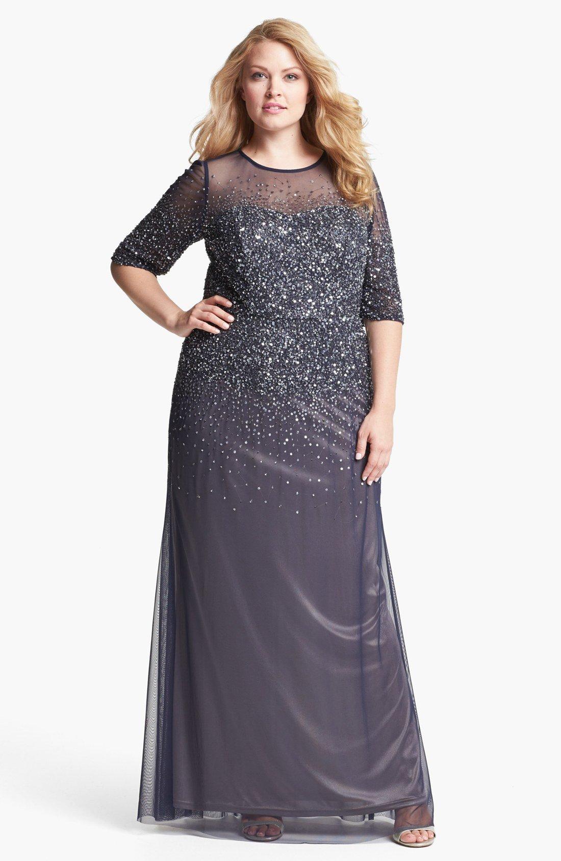 Vechernie-platya-dlya-polnyx-zhenshhin-foto_01 Платье для полных женщин на торжество 2019 (88 фото): на юбилей, на новый год, нарядное и праздничное